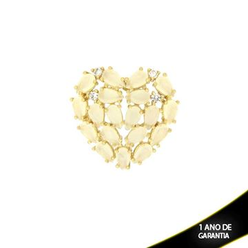Imagem de Pingente Coração com Zircônias e Pedras Naturais Várias Cores - 0304006