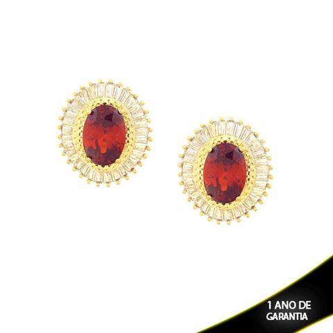 Imagem de Brinco com Pedras de Zircônias Várias Cores - 0210167
