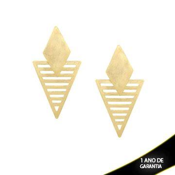 Imagem de Brinco Triângulo Lixado - 0209467