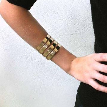 Imagem de Bracelete Feminino Folheado a Ouro Trabalhado - 0502321