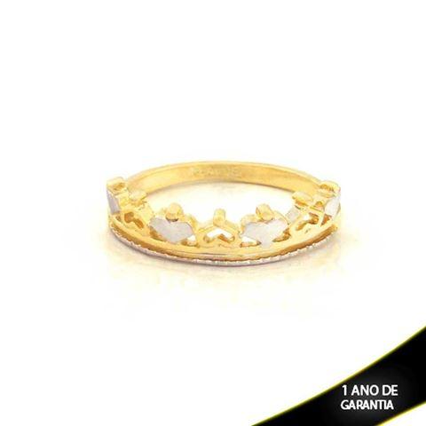 Imagem de Anel Coroa com Corações e Aplique de Rodio - 0104413