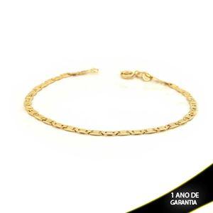 Imagem de Pulseira Masculina Elos Lisos Diamantada 3mm 19cm - 0503166