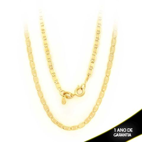 Imagem de Corrente Masculina Elos Lisos Diamantada 3mm 45cm - 0402828