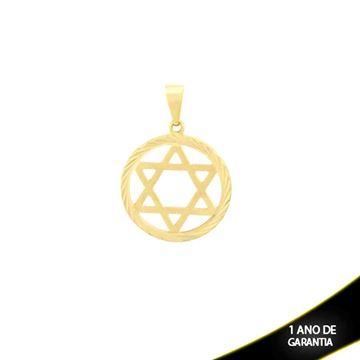 Imagem de Pingente Estrela de Davi com Diamantado em Volta - 0303839