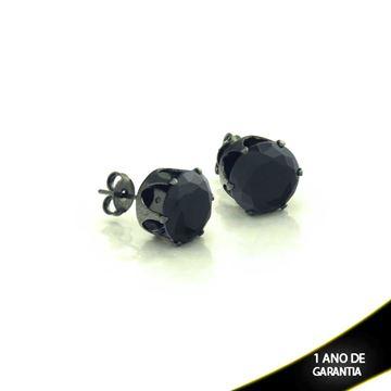 Imagem de Brinco Banho Negro com Pedra de Zircônia Preta - 0210343