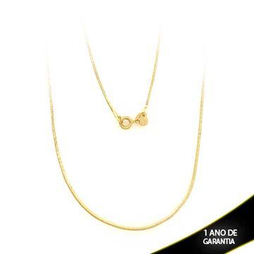 Imagem de Corrente Feminina Rabo de Rato Quadrada Diamantada 1mm 45cm - 0401856