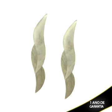 Imagem de Brinco Aço Inox com Duas Peças Lisas - 0201666