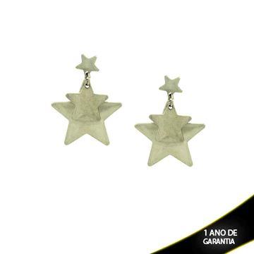 Imagem de Brinco Aço Inox Estrelas - 0200344