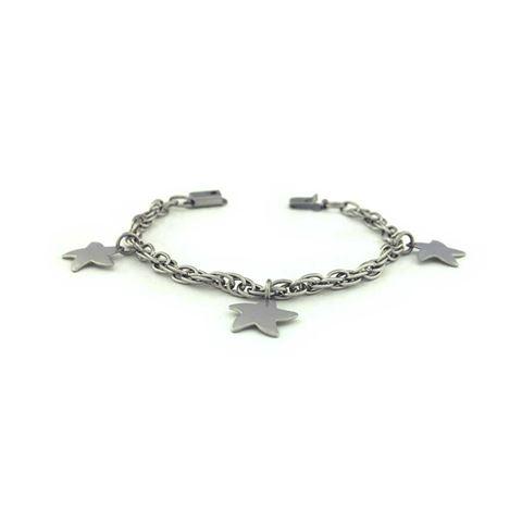 Imagem de Pulseiras Infantil Aço Inox com Três Estrelas 14,5cm - 0501772