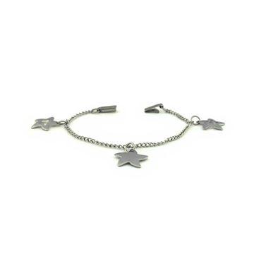 Imagem de Pulseiras Infantil Aço Inox com Três Estrelas 14cm - 0500263
