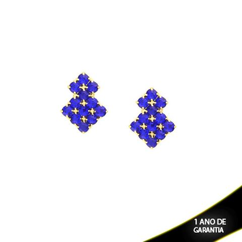Imagem de Brinco com Strass Várias Cores - 0209136