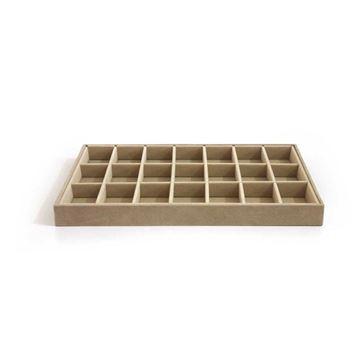 Imagem de Bandeja para organizar brincos, anéis e pingentes com 21 espaços - 101238