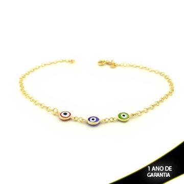 Imagem de Tornozeleira com Três Olho Grego Várias Cores 26cm - 0600569