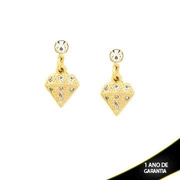 Imagem de Brinco em Forma de Diamante com Strass - 0208470