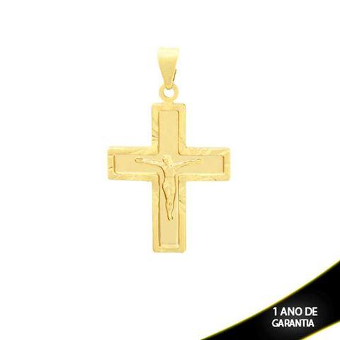 Imagem de Pingente Cruz com Corpo de Cristo e Diamantado em Volta - 0303828