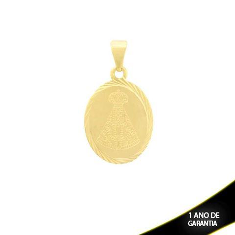 Imagem de Pingente Oval com Nossa Senhora Aparecida e Diamantado em Volta - 0303840
