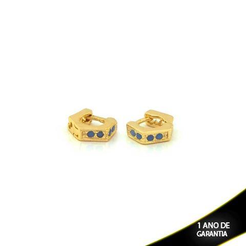 Imagem de Brinco Argola para Cartilagem com Quatro Zircônias Várias Cores - 0210408