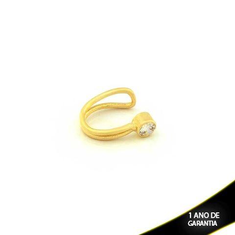 Imagem de Brinco Piercing De Pressão Para Cartilagem com Pedra de Zircônia - 0304045