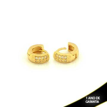 Imagem de Brinco Argola para Cartilagem com Zirconias - 0210404