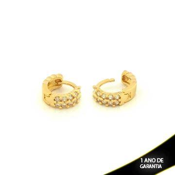 Imagem de Brinco Argola para Cartilagem com Zirconias - 0210407