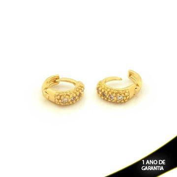Imagem de Brinco Argola para Cartilagem com Zirconias - 0210403
