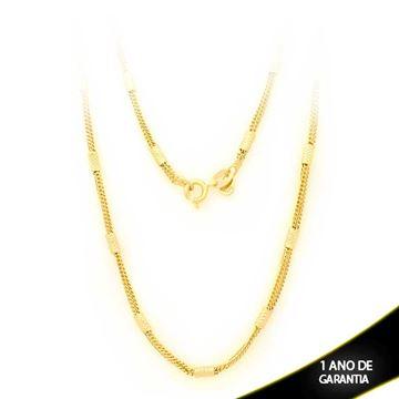 Imagem de Corrente Feminina com Canutilhos Diamantados 2,5mm 50cm - 0402636