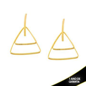 Imagem de Brinco Triângulos com Detalhes Aramados - 0210412