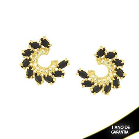 Imagem de Brinco com Zircônias e Pedras Várias Cores - 0210430