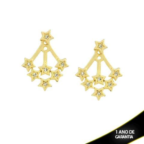 Imagem de Brinco Ear Jacket Estrelas com Strass Várias Cores - 0209290