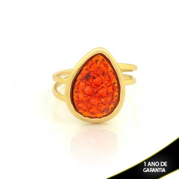 Imagem de Anel com Réplica de Pedra Drusa Várias Cores - 0104048