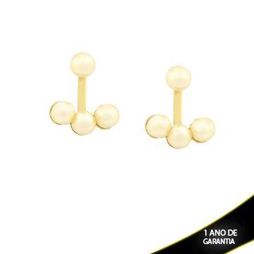 Imagem de Brinco Ear Jacket com Quatro Pérolas - 0209058