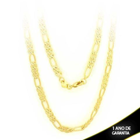 Imagem de Corrente Masculina Trabalhada e Diamantada 3x1 4mm 60cm - 0402917
