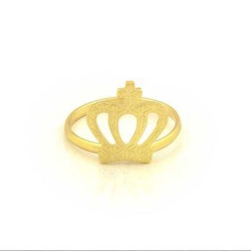 Imagem de Anel Falange e Infantil Coroa Trabalhada - 0104554