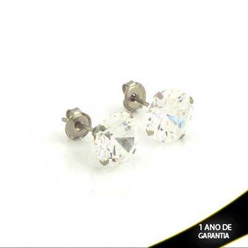 Imagem de Brinco Aço Inox com Pedra de Zircônia - 0210764