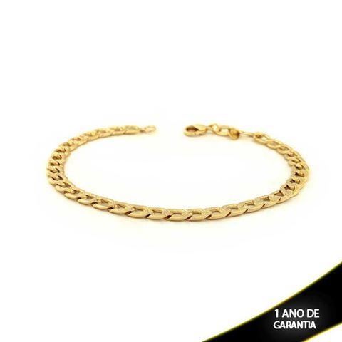 Imagem de Pulseira Masculina Diamantada Dos Lados e Trabalhada no Meio 5,5mm 21cm - 0503450