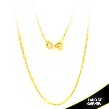 Imagem de Corrente Masculina com Plaquinha Diamantada 2mm 45cm - 0403076