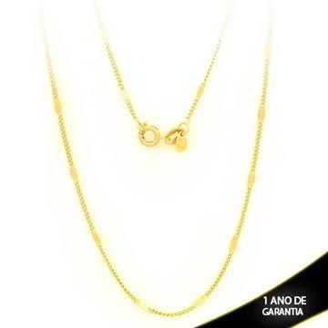Imagem de Corrente Masculina Malha com Plaquinha Diamantada 2mm 60cm - 0403078