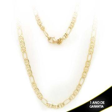 Imagem de Corrente Masculina Grossa Diamantada 3x1 5mm 60cm - 0401503