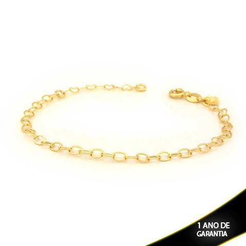 Imagem de Pulseira Feminina Diamantada 4mm 15cm Mais 3cm de Extensor - 0503464