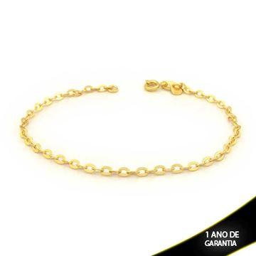 Imagem de Pulseira Masculina Diamantada 3mm 20cm - 0503462