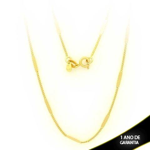 Imagem de Corrente Masculina Malha com Plaquinha Diamantada 2mm 45cm - 0403093