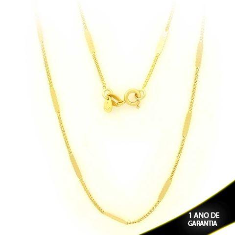 Imagem de Corrente Masculina Malha com Plaquinha Diamantada 2mm 70cm - 0403096