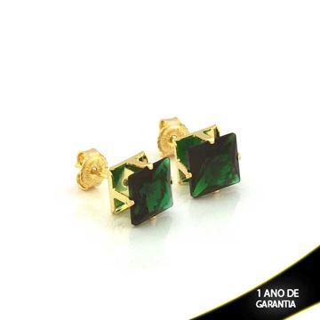 Imagem de Brinco com Pedra de Zircônia Várias Cores - 0210782
