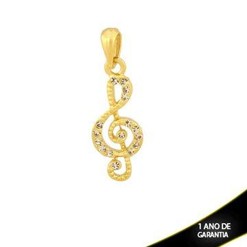 Imagem de Pingente Nota Musical com Strass - 0304141