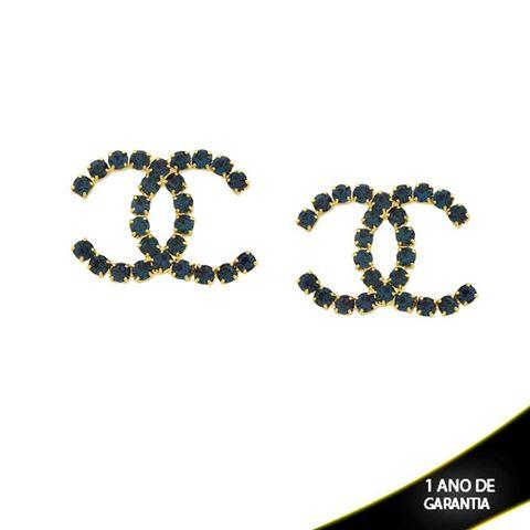 Imagem de Brinco Chanel com Strass Várias Cores - 0210625