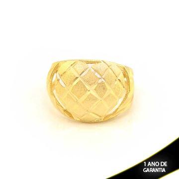 Imagem de Anel Coração Fosco e Diamantado - 0104587