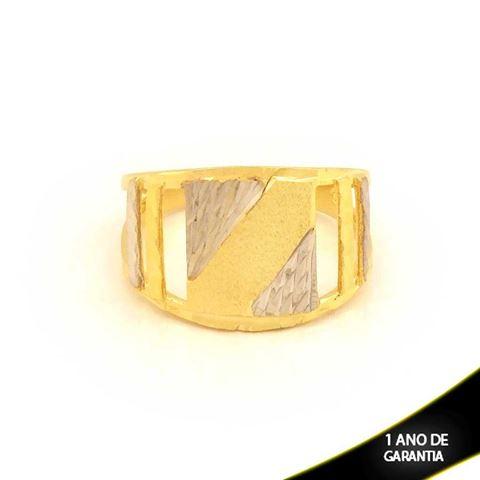 Imagem de Anel Fosco e Diamantado com Aplique de Ródio - 0104600
