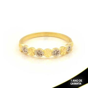 Imagem de Anel Aparador de Alianças Diamantado com Zircônias e Aplique de Ródio  - 0104616