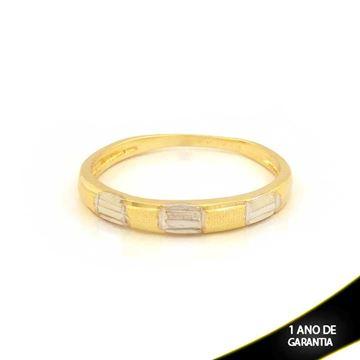 Imagem de Anel aparador de alianças Fosco e Diamantado com Aplique de Rodio - 0104621