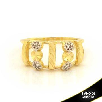 Imagem de Anel Diamantado com Zircônias e Aplique de Rodio - 0104615